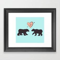 Polar Bear Love Framed Art Print