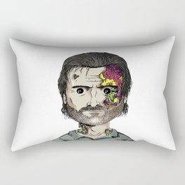 Rick Grimes The Walking Dead zombie portrait Rectangular Pillow