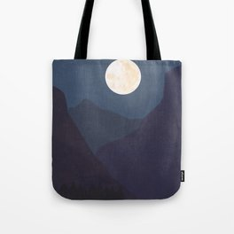 The Mountains At Night Tote Bag