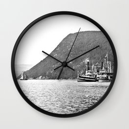 19th Century Steamboats, Anthony's Nose, Lake George Wall Clock
