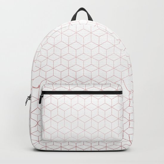 Simply Cubes in Rose Gold Sunset Backpack