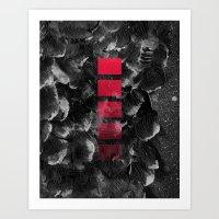 decal Art Prints featuring black ocean by LEEMO