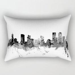 Denver Colorado Skyline Rectangular Pillow