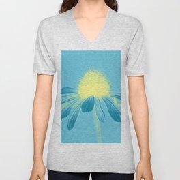 Echinacea in pastel shade Unisex V-Neck