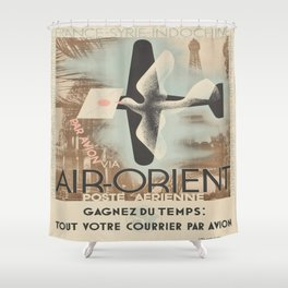 Vintage poster - Air-Orient Shower Curtain