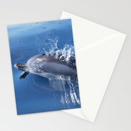Dolphins and bubbles Stationery Cards