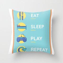 fun gaming  Throw Pillow