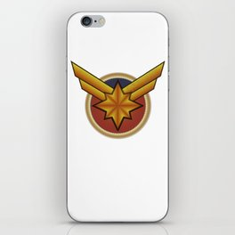 Captainmarvel embroidered iPhone Skin