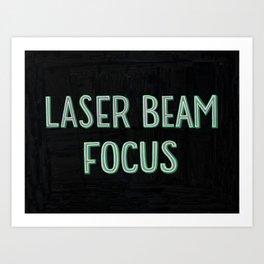 Laser Beam Focus Art Print