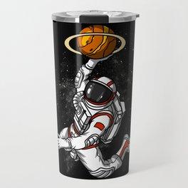Space Astronaut Basketball Player Travel Mug