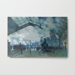 Claude Monet - Arrival of the Normandy Train Metal Print