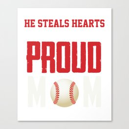 Awesome Gift For Mom. Baseball T-Shirt Canvas Print