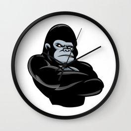 angry  gorilla.black gorilla Wall Clock