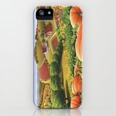 Appalachian Pumpkin Patch Rural Country Farm Life Landscape iPhone SE Slim Case