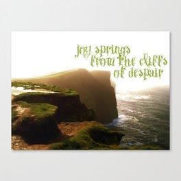 Joy Springs like Flowers Canvas Print