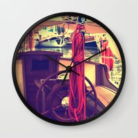 boat Wall Clocks featuring boat by gzm_guvenc