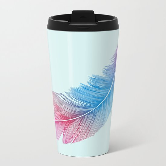 Colors of a Feather Metal Travel Mug