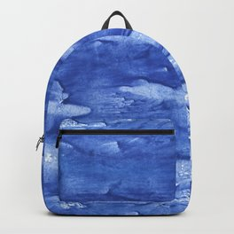 Steel blue vague watercolor painting Backpack