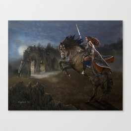 A Knight's Lady Canvas Print