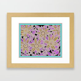 Art Print, Wall Art, Home Decor, Print Botanical, Drawing Flowers, Line Drawing Flower, Botanical Pr Framed Art Print