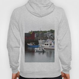 Rockport Inner Harbor With Lobster Fleet And Motif No.1 Hoody