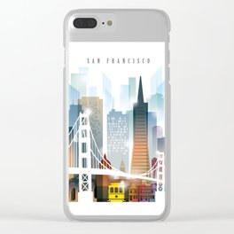 City of San Francisco painting Clear iPhone Case