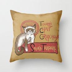 Tournee du Chat Grincheux Throw Pillow