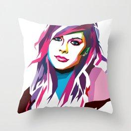 Avril Lavigne - WPAP art Throw Pillow