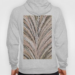 Rose Gold and Glitter Brushstroke Bursts Hoody