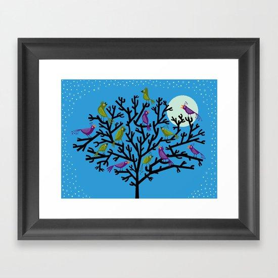 The Night Birds Framed Art Print