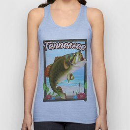 Tennessee fishing poster Unisex Tank Top