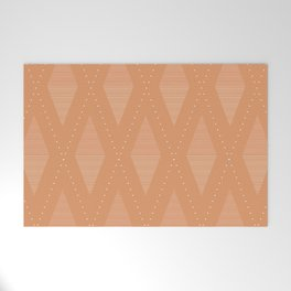 Diamonds in Rust Welcome Mat