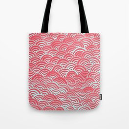 Watercolor Waves - Guava Mint Tote Bag