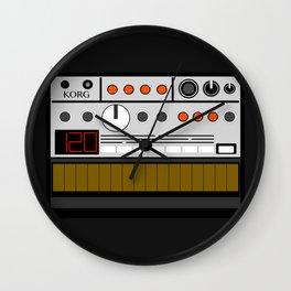 Retro Synthesizer Analog Korg Volca Bass Wall Clock