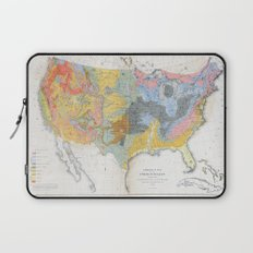 1874 Geological Map of the United States Laptop Sleeve