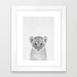 Baby Lion Framed Art Print