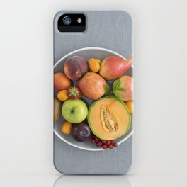 Fruits on a plate iPhone Case
