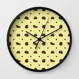 Roly Poly Party! Clown/Montenegro on Yellow Wall Clock