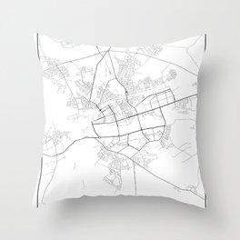 Minimal City Maps - Map Of Brest, Belarus. Throw Pillow