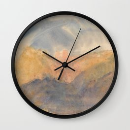 "J.M.W. Turner ""Crichton Castle (Mountainous Landscape with a Rainbow)"" Wall Clock"