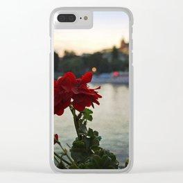 River Bokeh Clear iPhone Case