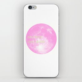 Love By The Moon Pink iPhone Skin