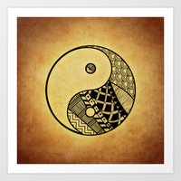 ying yang Art Prints featuring Ying Yang by WonderfulDreamPicture