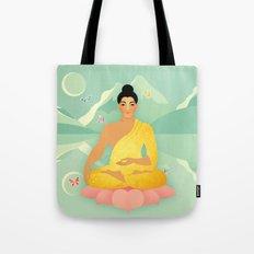 Sacred World: Golden Yogi Tote Bag