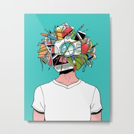 Creative Head Metal Print