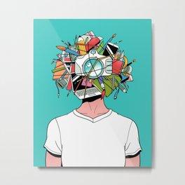 Creative Head Metal Print