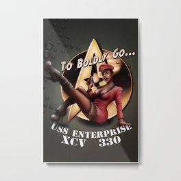 To Boldly Go... Metal Print