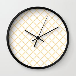 Criss Cross Wall Clock