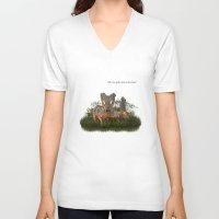 minaj V-neck T-shirts featuring O.M.G. by gasponce
