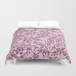 Purple Berries Duvet Cover